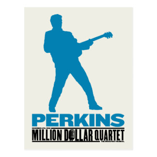 Million Dollar Quartet Perkins Postcard