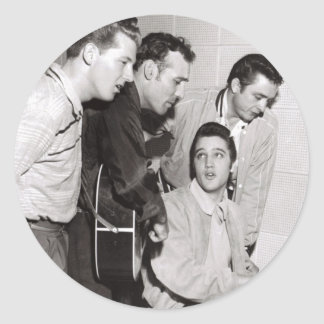Million Dollar Quartet Photo Classic Round Sticker