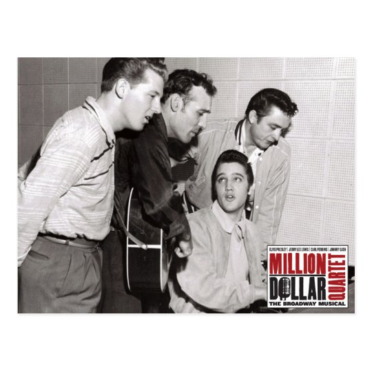 Million Dollar Quartet Photo Postcard