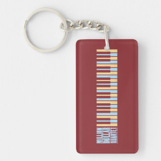 Million Dollar Quartet Piano Key Ring