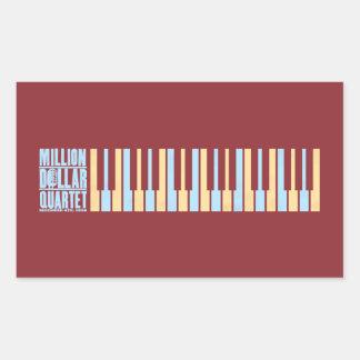 Million Dollar Quartet Piano Rectangular Sticker