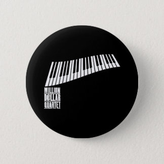 Million Dollar Quartet Piano - White 6 Cm Round Badge