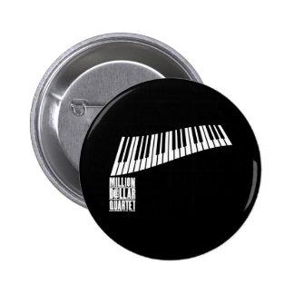 Million Dollar Quartet Piano - White 6 Cm Round Badge