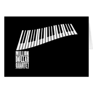 Million Dollar Quartet Piano - White Card
