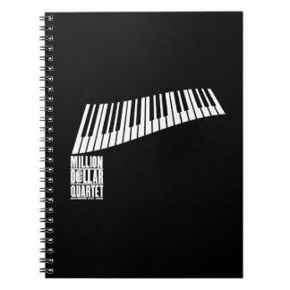 Million Dollar Quartet Piano - White Notebook