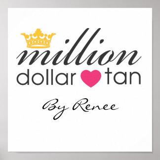 Million Dollar Tan Canvas Sign
