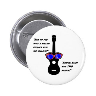 Million Dollar Uke 6 Cm Round Badge