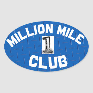 MILLION MILE CLUB STICKER