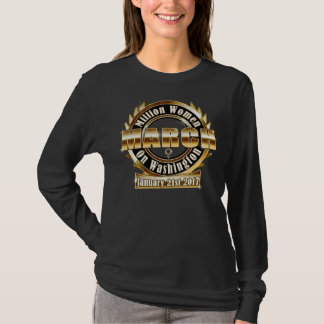 Million Womens March on Washington 2017 black gold T-Shirt