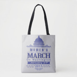 Million Women's March on Washington 2017 Blue Tote