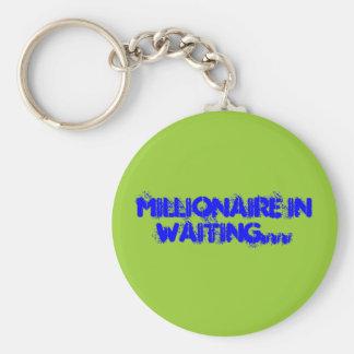 Millionaire Basic Round Button Key Ring