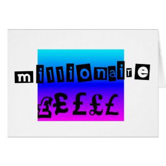 Millionaire Blues Card
