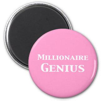 Millionaire Genius Gifts 6 Cm Round Magnet
