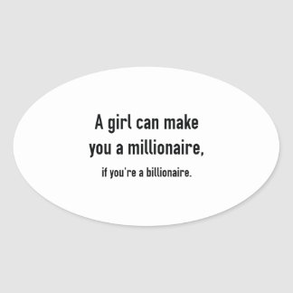 Millionaire Oval Sticker