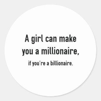 Millionaire Round Sticker