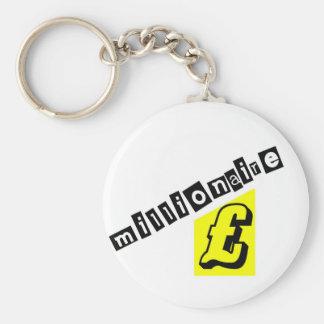 Millionaire Yellow Basic Round Button Key Ring