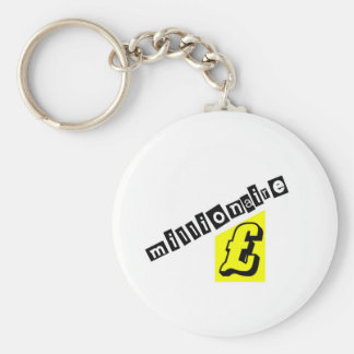 Millionaire Yellow Basic Round Button Key Ring