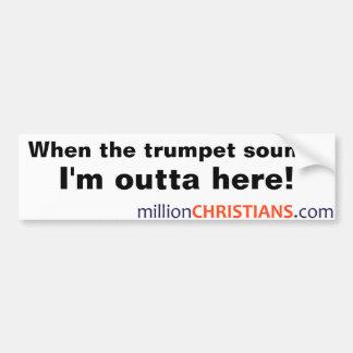 millionChristians.com Bumber Sticker Bumper Sticker