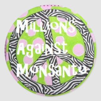 Millions Against Monsanto Stickers