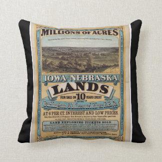 Millions of Acres Throw Cushion
