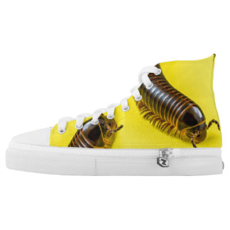 MILLIPEDE WITH YELLOW BACKGROUND HIGH TOPS