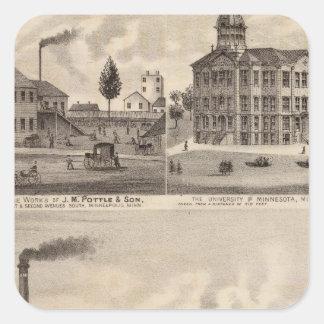 Mills and Lumberyard in Minnesota Square Sticker