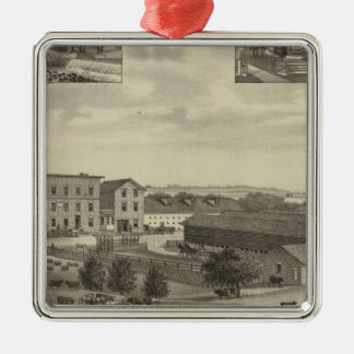 Mills and Residences in Kansas Christmas Ornament