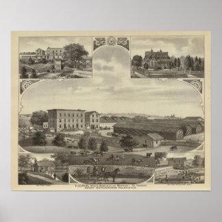Mills and Residences in Kansas Poster