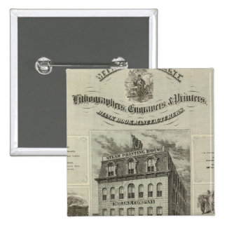 Mills & Company, Des Moines, Iowa 15 Cm Square Badge
