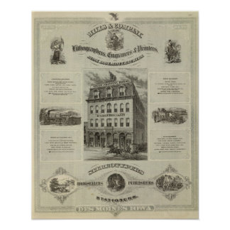 Mills & Company, Des Moines, Iowa Poster