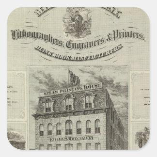 Mills & Company, Des Moines, Iowa Square Sticker