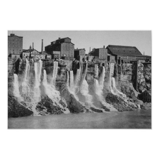 Mills on the American Side of Niagara Falls Poster