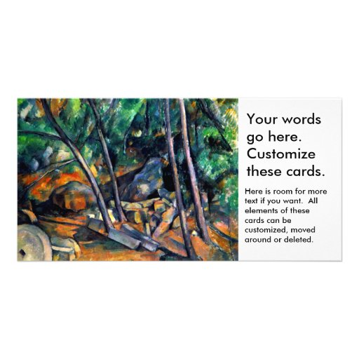 Millstone in the Park by Paul Cezanne colorful art Custom Photo Card