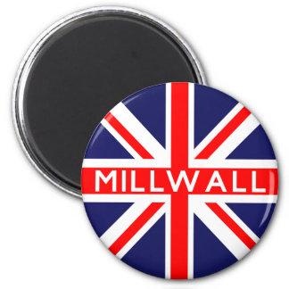 Millwall UK Flag 6 Cm Round Magnet