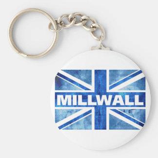 Millwall Union Flag Basic Round Button Key Ring