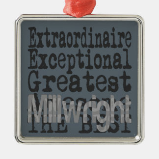 Millwright Extraordinaire Silver-Colored Square Decoration