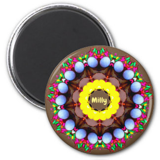 MILLY ~ Personalized Easter Pattern Fractal ~ Magnet