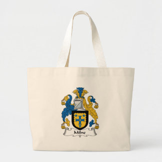 Milne Family Crest Large Tote Bag