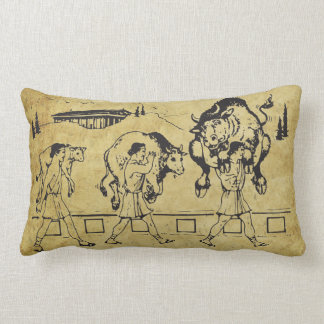 Milo of Croton And The Bull - Gym Motivational Throw Cushions