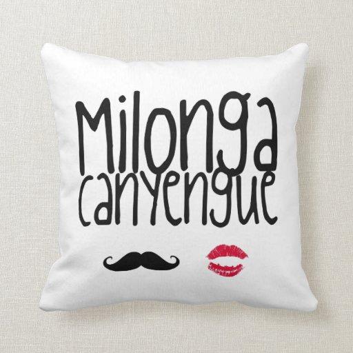 Milonga Canyengue Throw Pillows