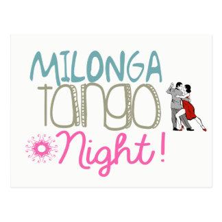 Milonga Tango Night Postcard