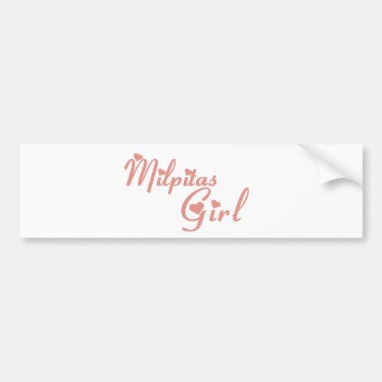 Milpitas Girl tee shirts Bumper Sticker