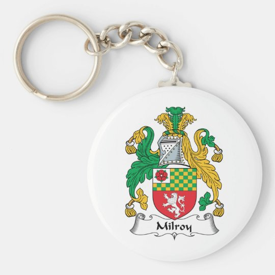 Milroy Family Crest Basic Round Button Key Ring