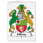 Milroy Family Crest Card