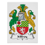 Milroy Family Crest Poster