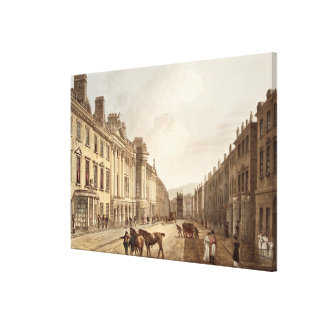 Milsom Street, from 'Bath Illustrated by a Series Canvas Print