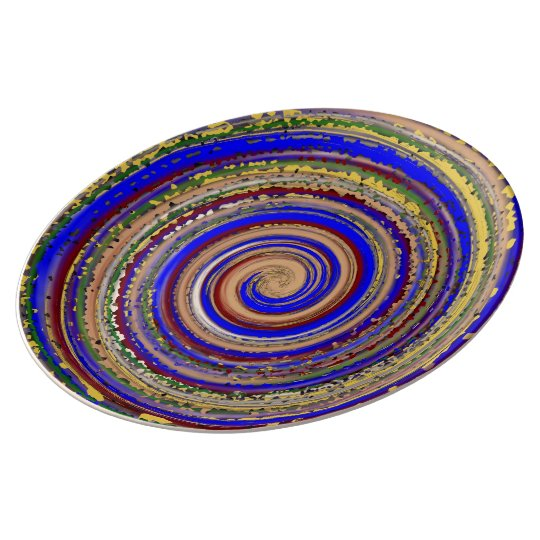 Milti-colored Spiral Of Joy Plate