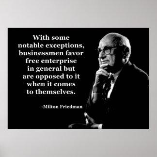 Milton Friedman Crony Capitalism Print