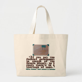 Milton Friedman Quote:  Government Efficiency Jumbo Tote Bag