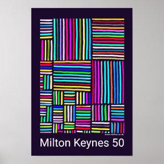 Milton Keynes 50 (years of) poster by Robert Rusin